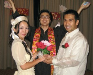 The Bride, Groom & Officiant